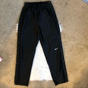 Nike vintage track tear away warm up pants black